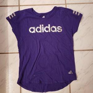 Purple adidas tee shirt